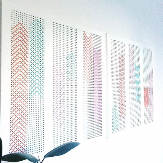 DIY stitched wall art (via ikeahackers)