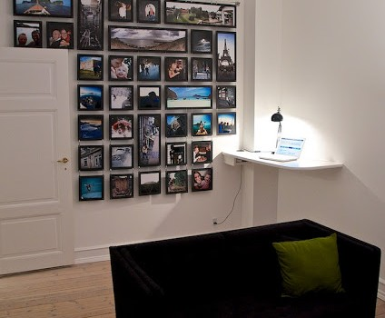 DIY photo wall from IKEA units (via ikeahackers)