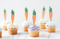 DIY carrot cupcake toppers