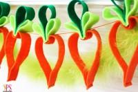 DIY felt carrot garland
