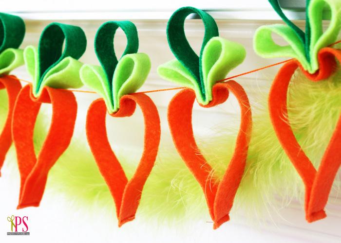 DIY felt carrot garland (via positivelysplendid)