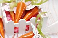 DIY playdough carrots