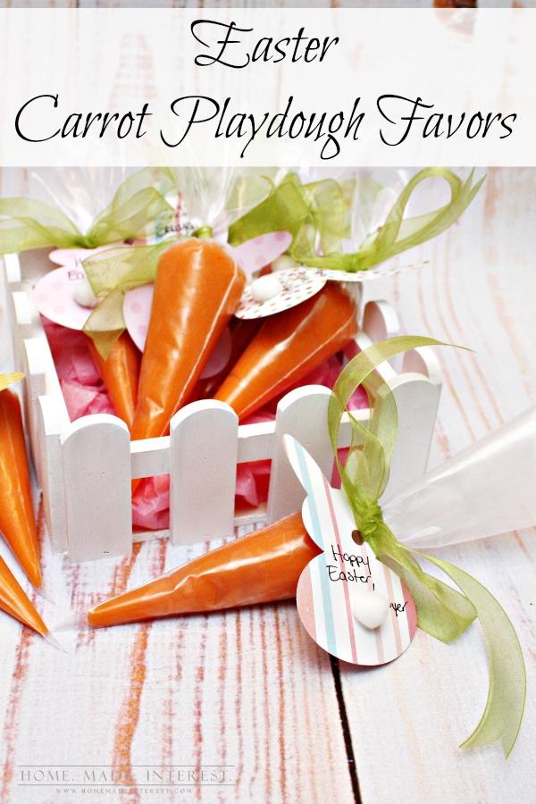 DIY playdough carrots (via homemadeinterest)