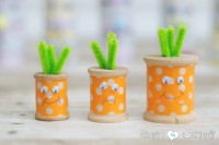 DIY spool carrots
