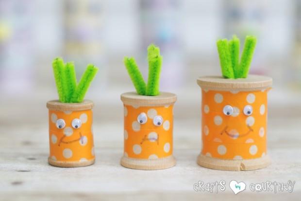 DIY spool carrots (via craftsbycourtney)