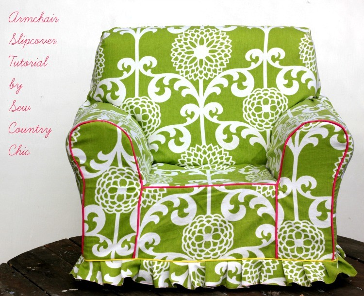 DIY Colorful Armchair Slipcover (via Sewcountrychick)