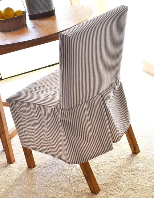 DIY parson chair slipcover (via ana-white)