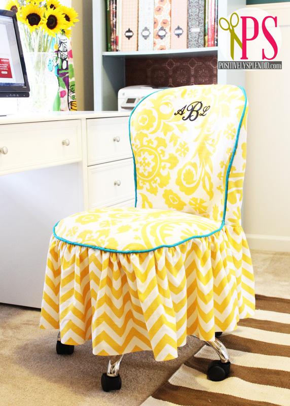 DIY ruffled chair slipcover (via positivelysplendid)