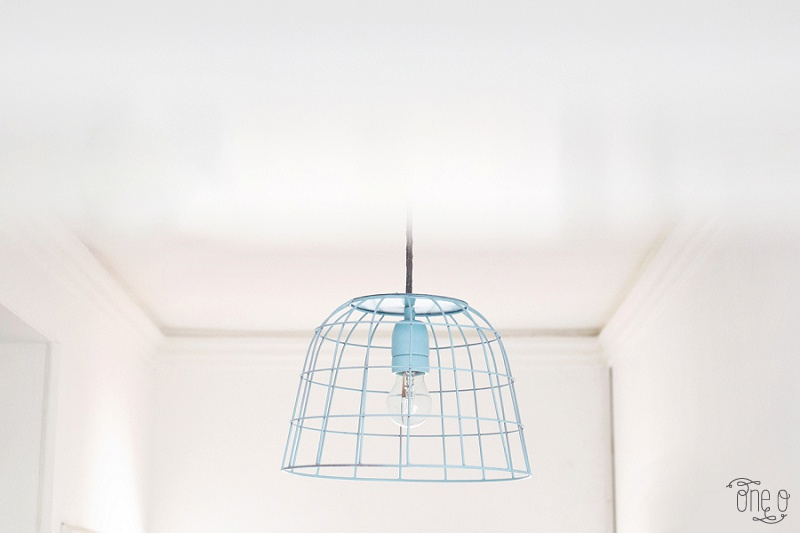 Picture Of how to transform a fruit bowl into a wireframe pendnat light  2