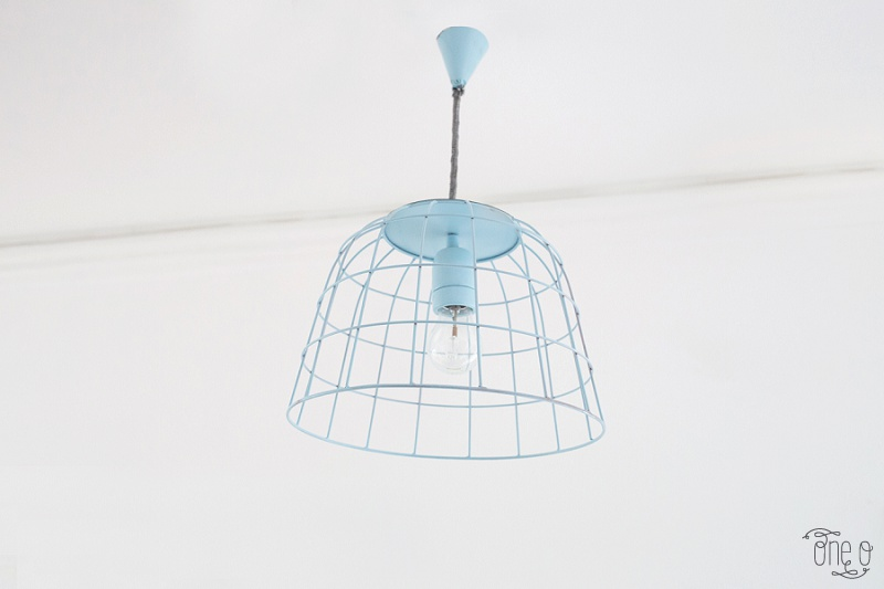 Picture Of how to transform a fruit bowl into a wireframe pendnat light  6