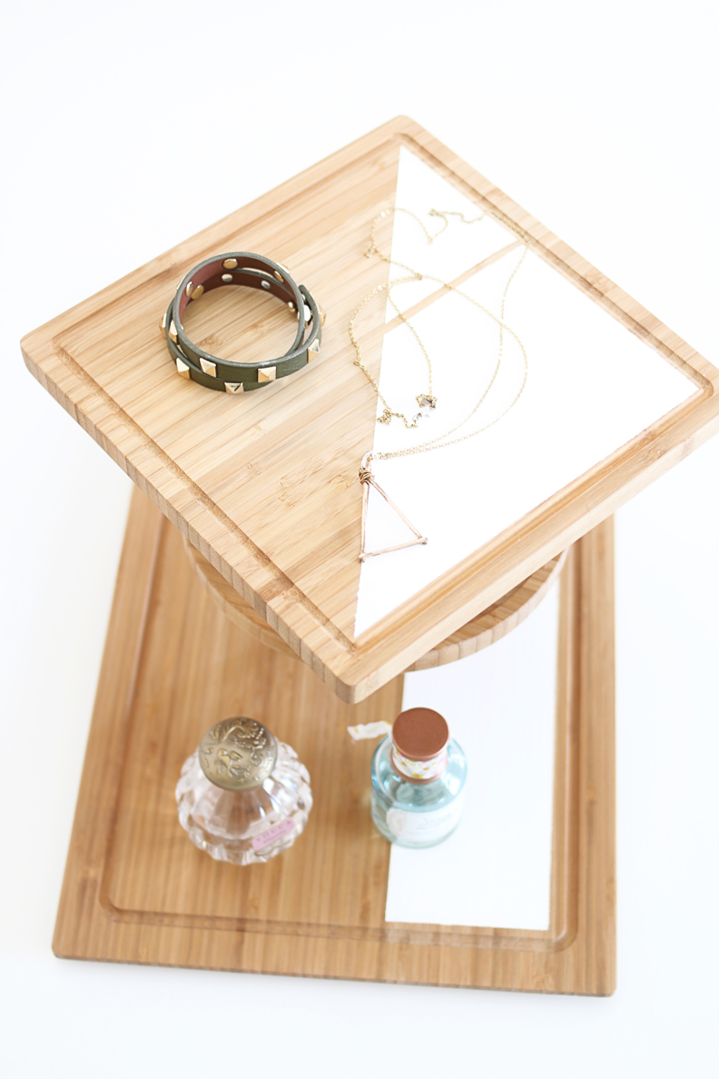 DIY 3 tier jewelry stand