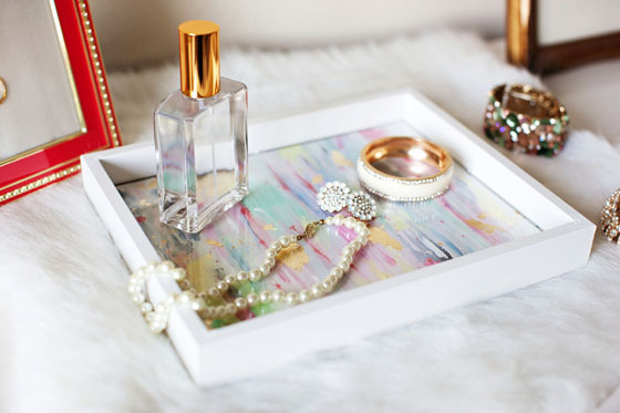 DIY jewelry tray (via blog)
