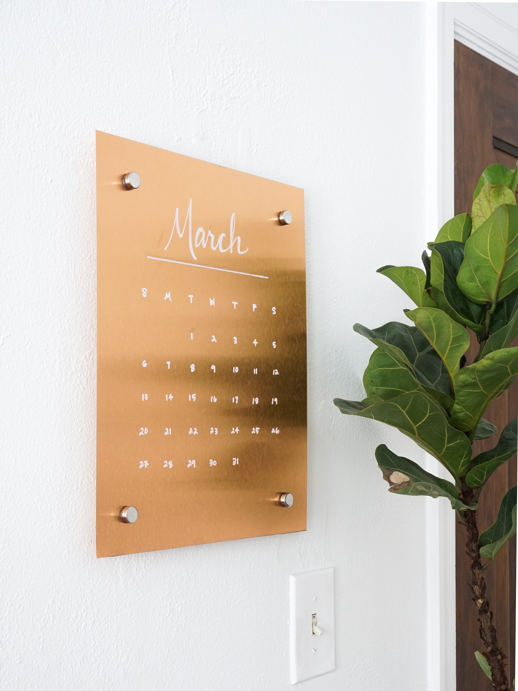 Picture Of stylish diy wall copper message board  1