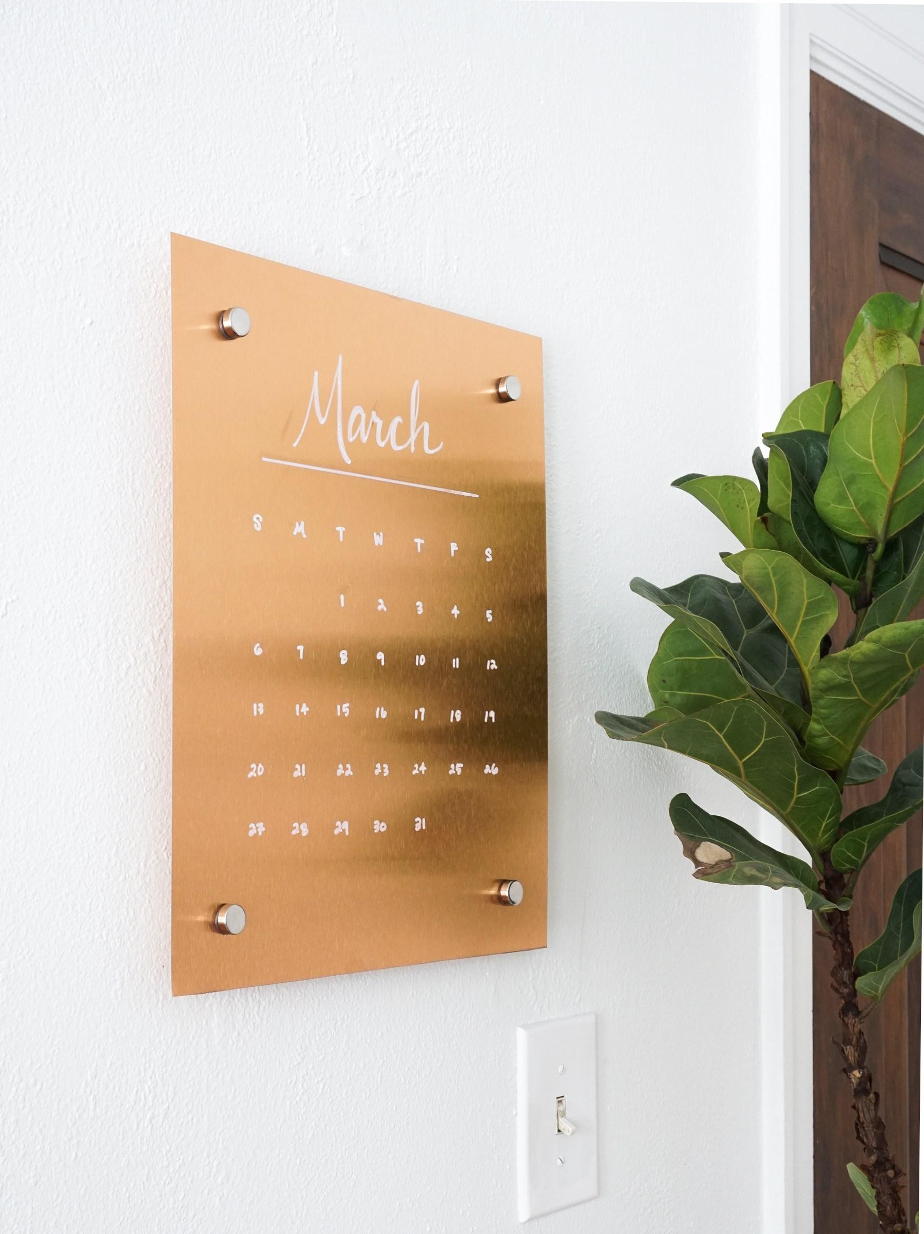 Stylish DIY Wall Copper Message Board