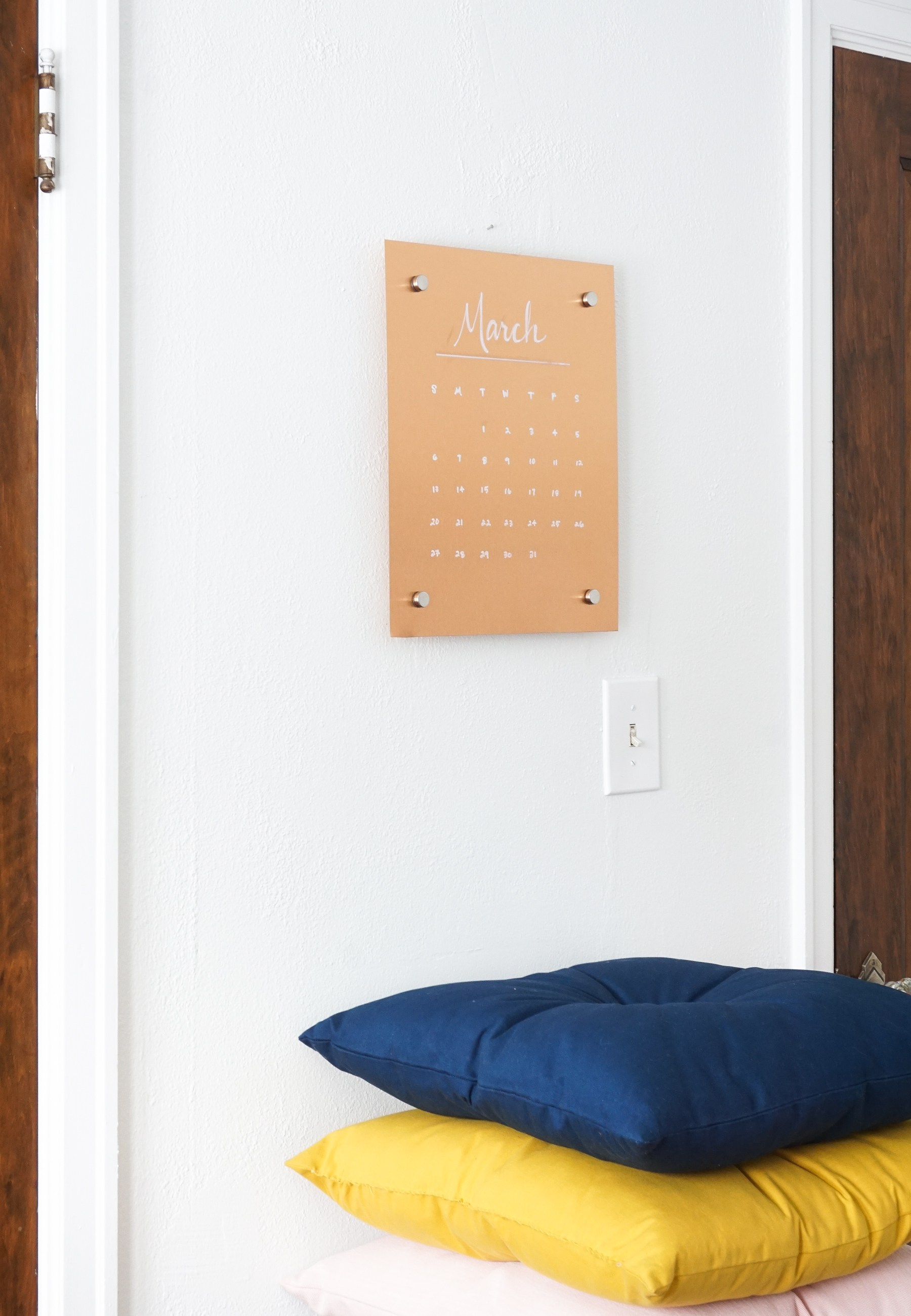 Picture Of stylish diy wall copper message board  4