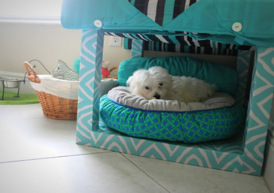 DIY Lack dog bed (via ikeahackers)