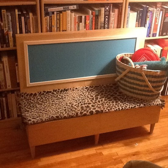DIY Malm dog bench (via ikeahackers)