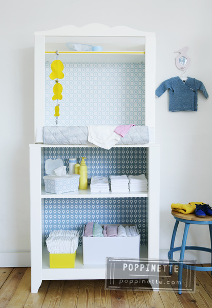 DIY changing table (via poppinette)