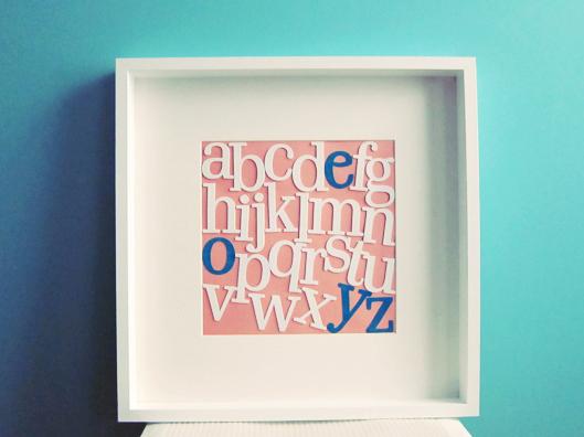 DIY ABC frame (via lezoemusings)