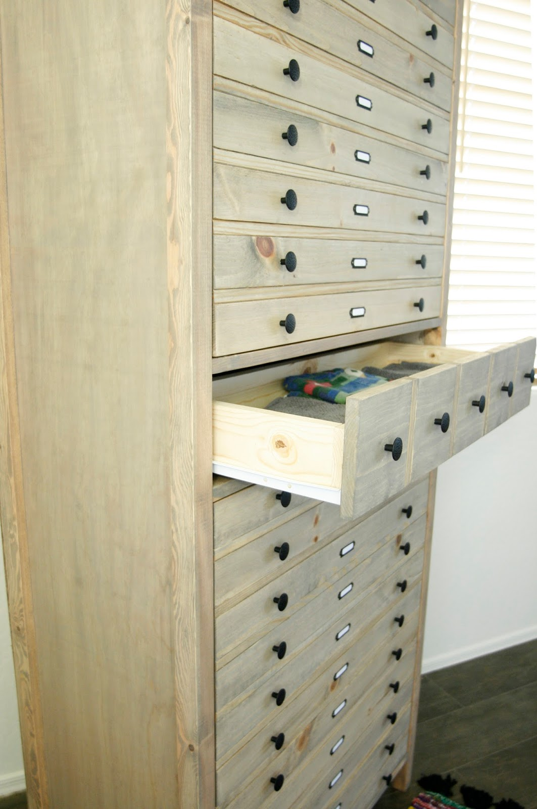 Picture Of vintage inspired diy tall printers cabinet  7