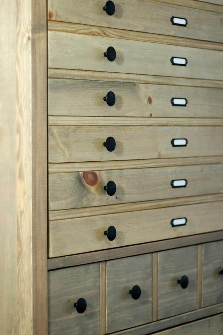 Vintage Inspired DIY Tall Printer's Cabinet