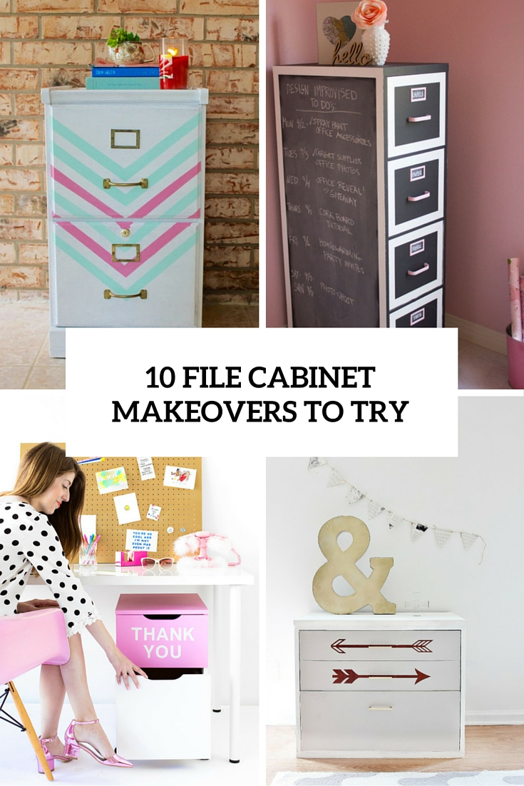 10 diy file cabinet makeovers cover