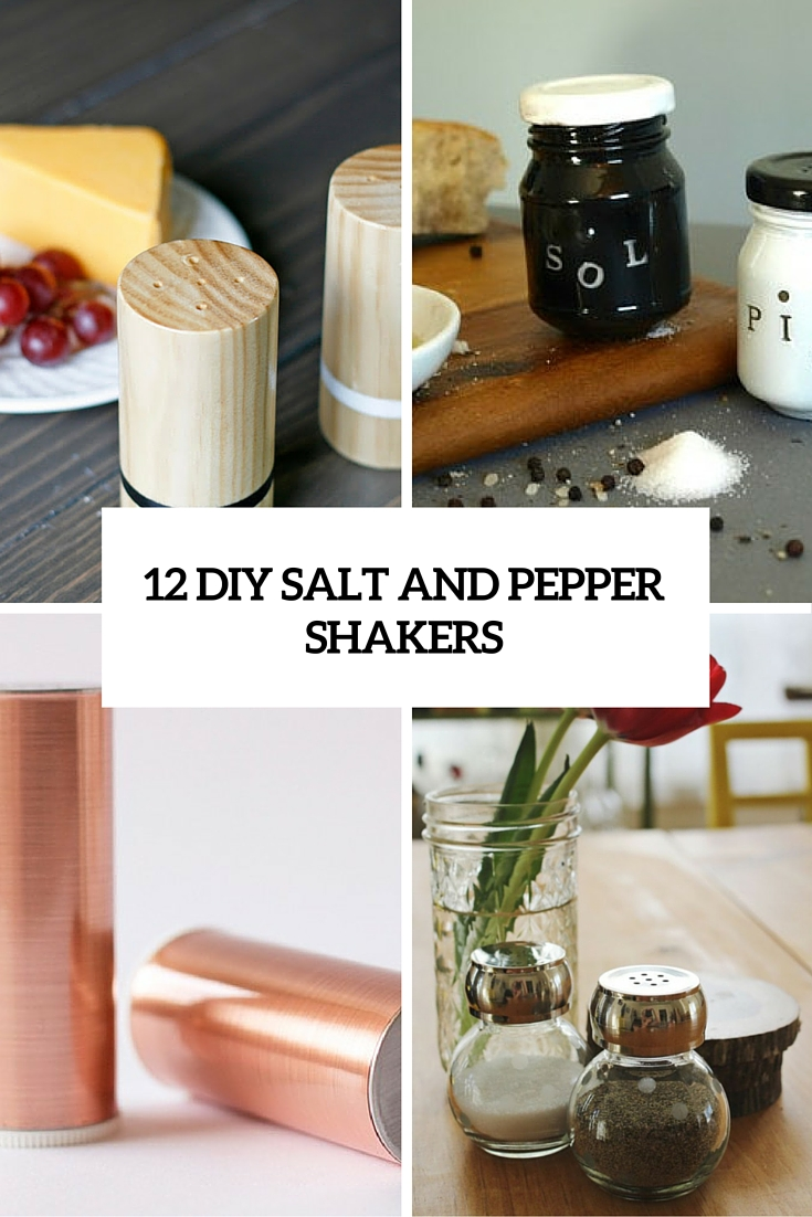 12 Creative DIY Salt And Pepper Shakers For Any Kitchen