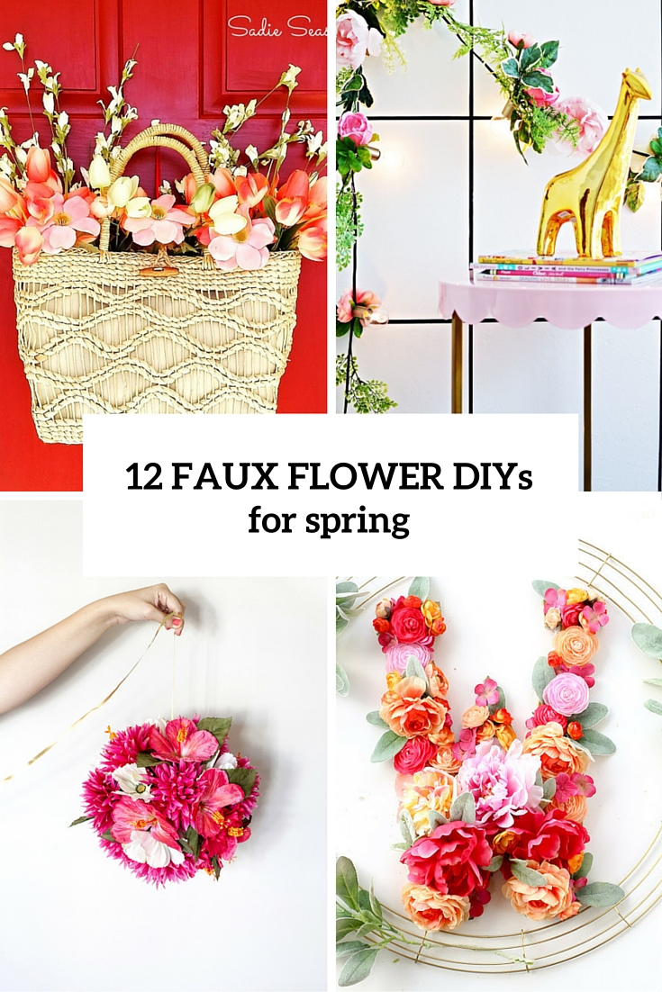 12 faux flower diys for spring cover