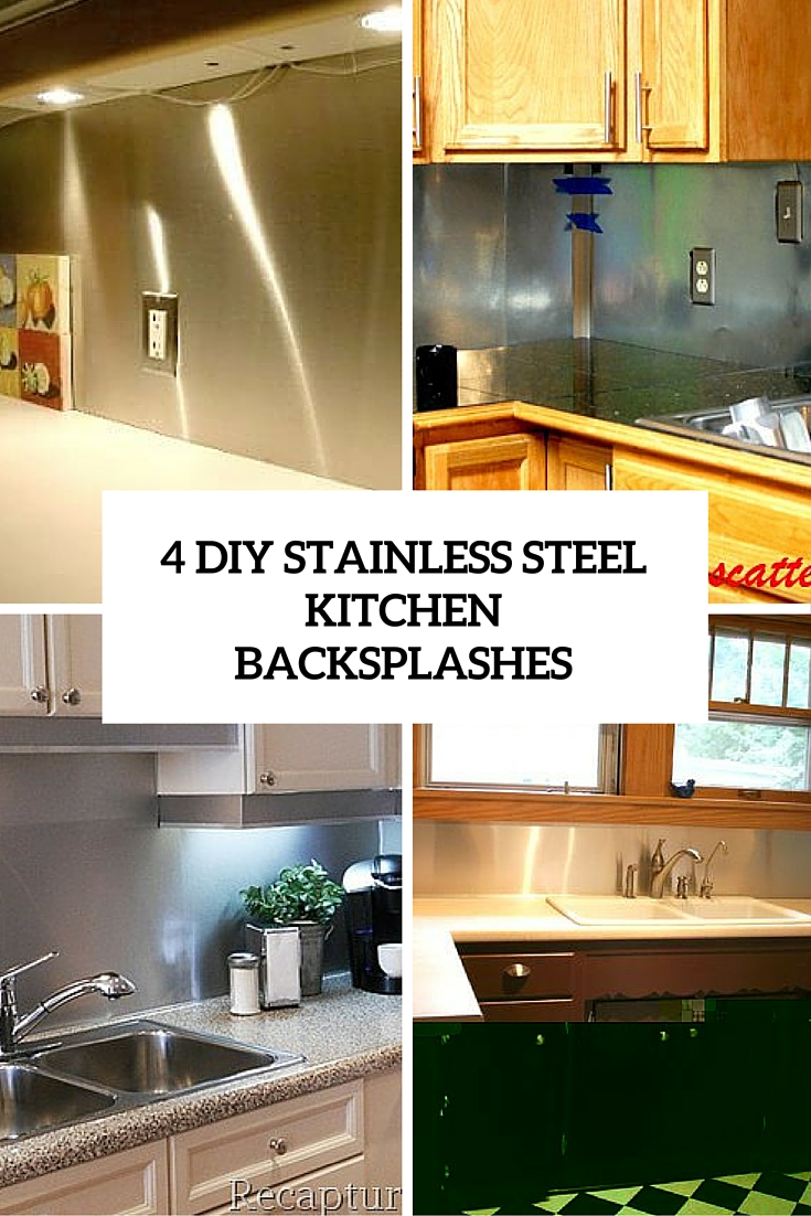 diy stainless steel backsplash