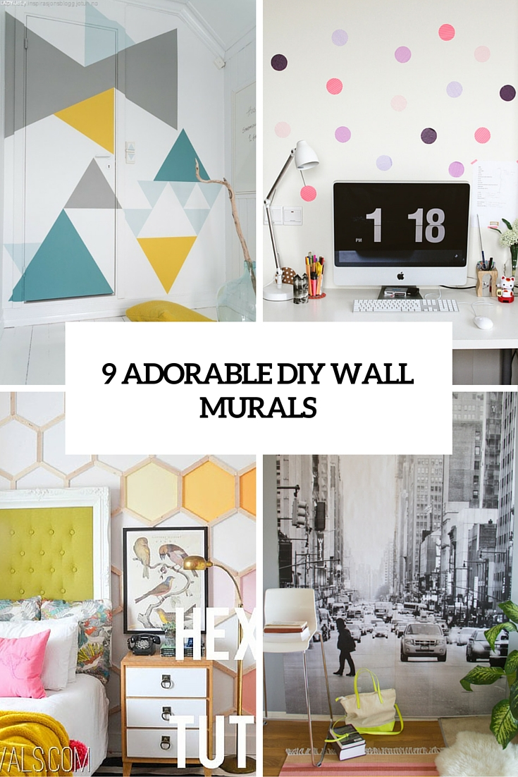 9 adorable and easy to make diy wall murals shelterness for Diy wall photo mural