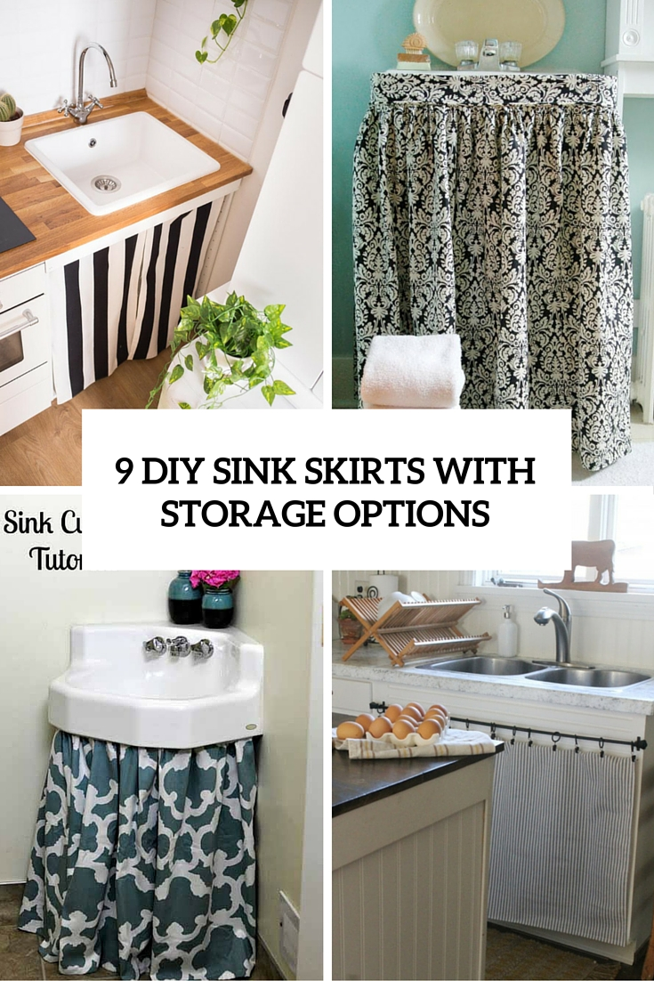 Cute Hidden Storage Idea: 9 DIY Sink Curtains