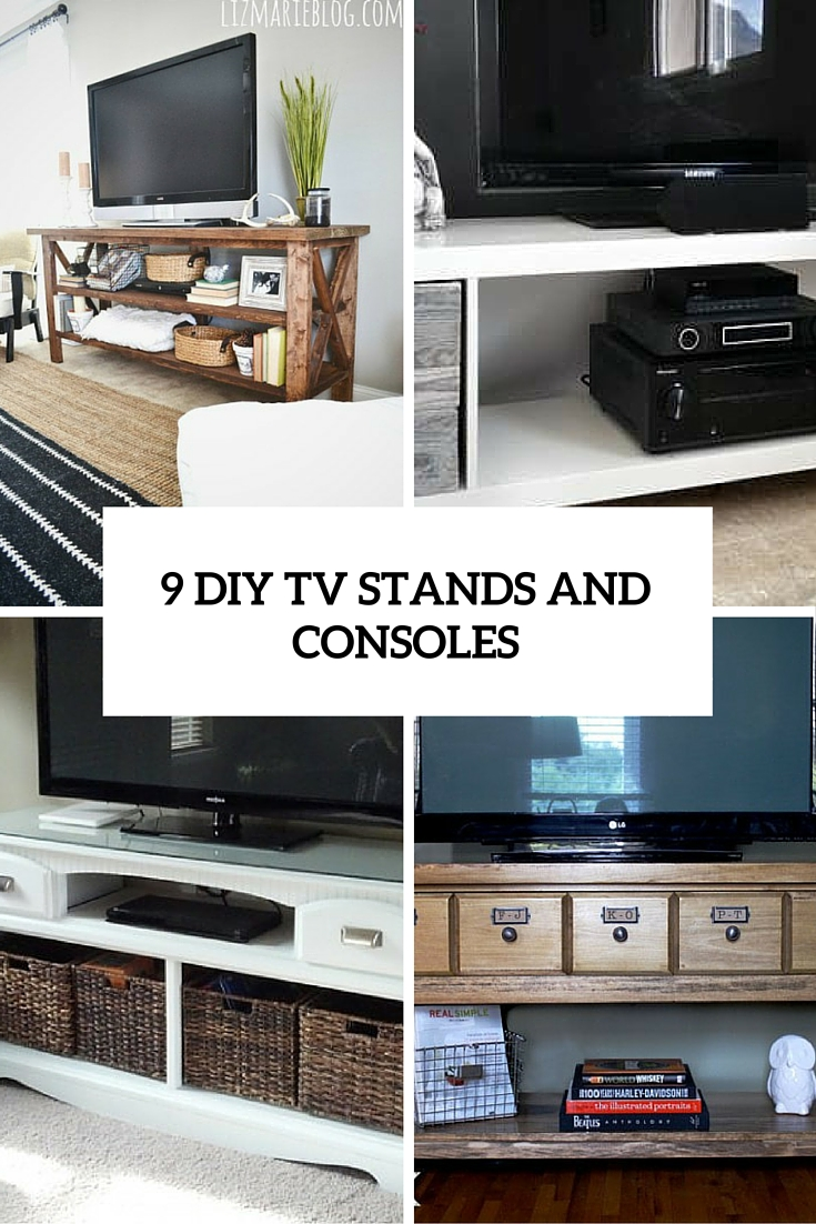9 Cool DIY TV Stands And Consoles To Make - Shelterness