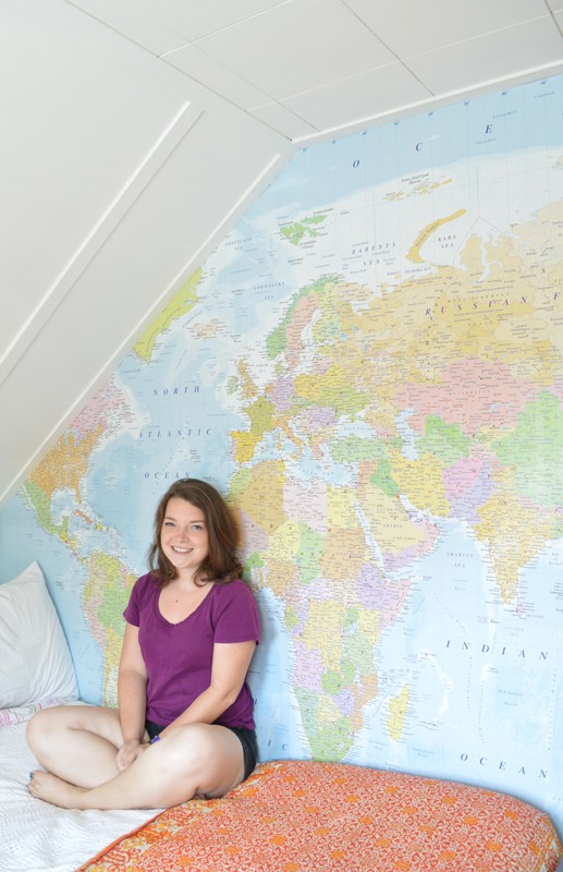 DIY map mural (via plasteranddisaster)