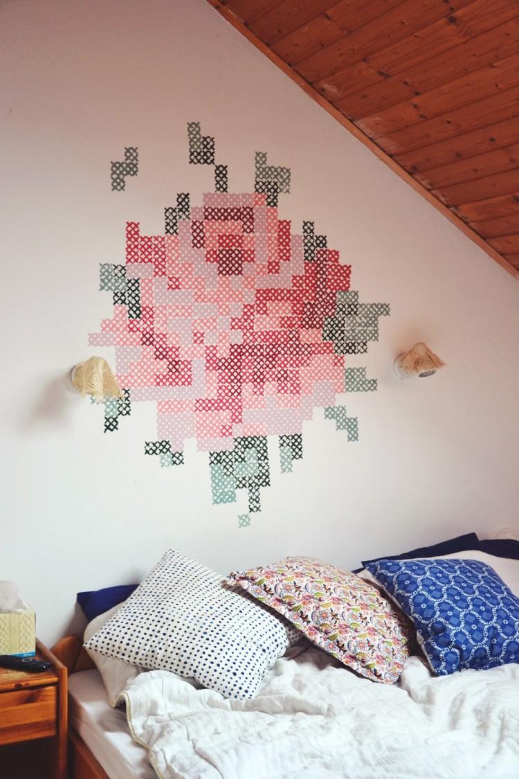 DIY Floral Mural (via Mrs Ferguson) Part 53