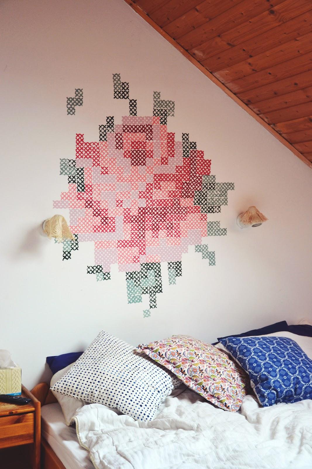 DIY floral mural