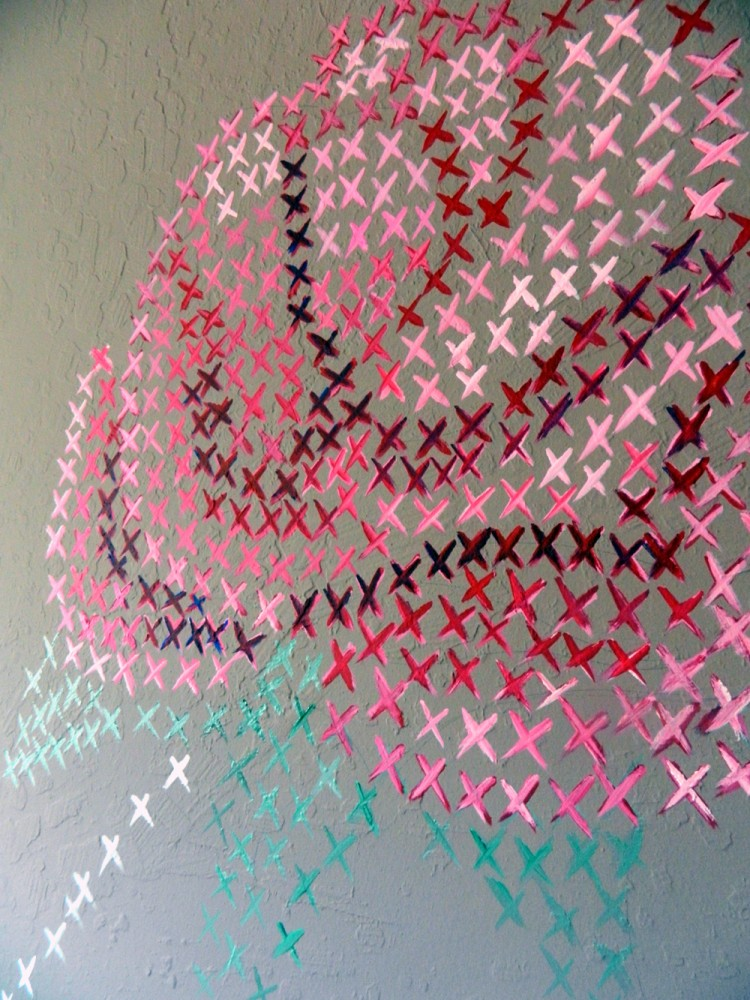 DIY cross stitch mural (via homeheartcraft)