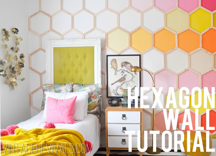9 adorable and easy to make diy wall murals shelterness for Diy photo wall mural