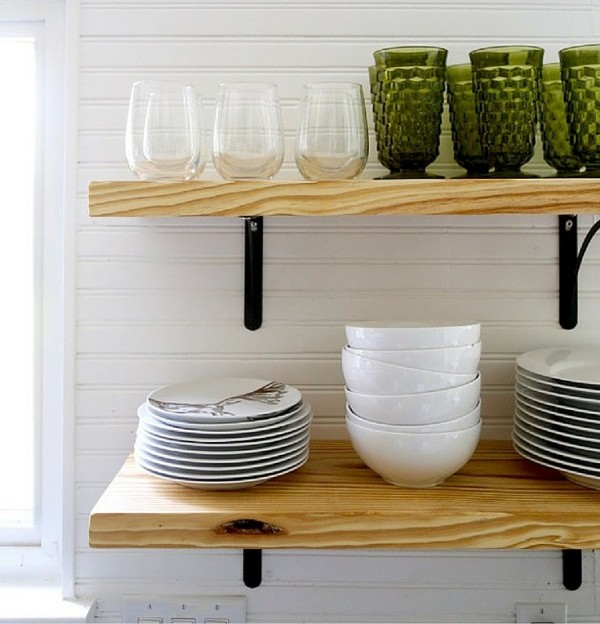 Pleasing Airy Looking Diy Kitchen Open Shelving Shelterness Home Interior And Landscaping Fragforummapetitesourisinfo