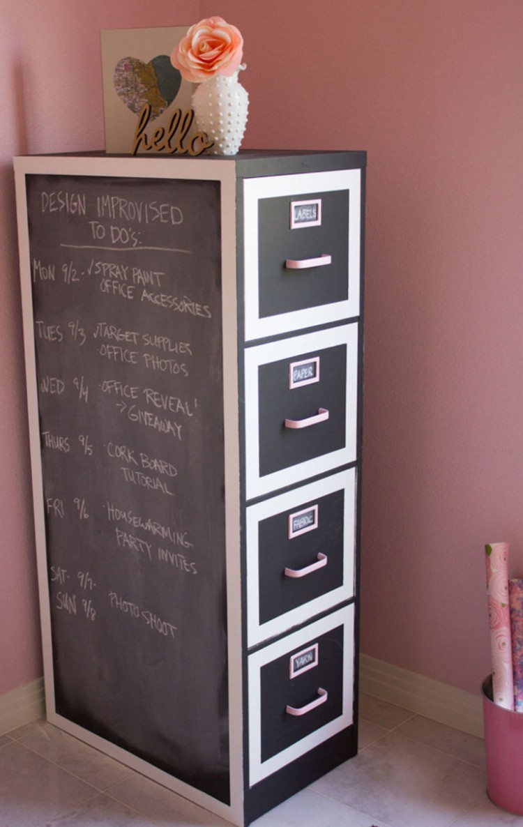 DIY chalkboard makeover (via countryliving)