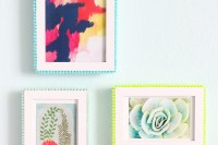 bold-and-cute-diy-pompom-picture-frames-1