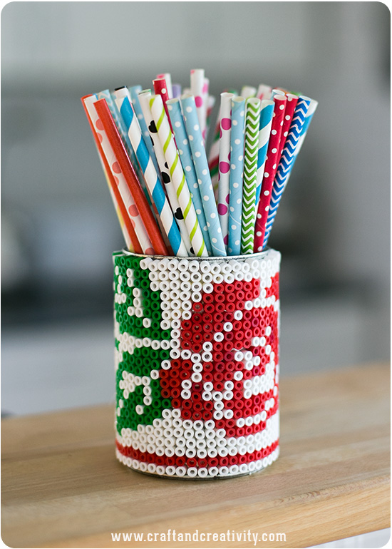 DIY beaded tin can (via craftandcreativity)
