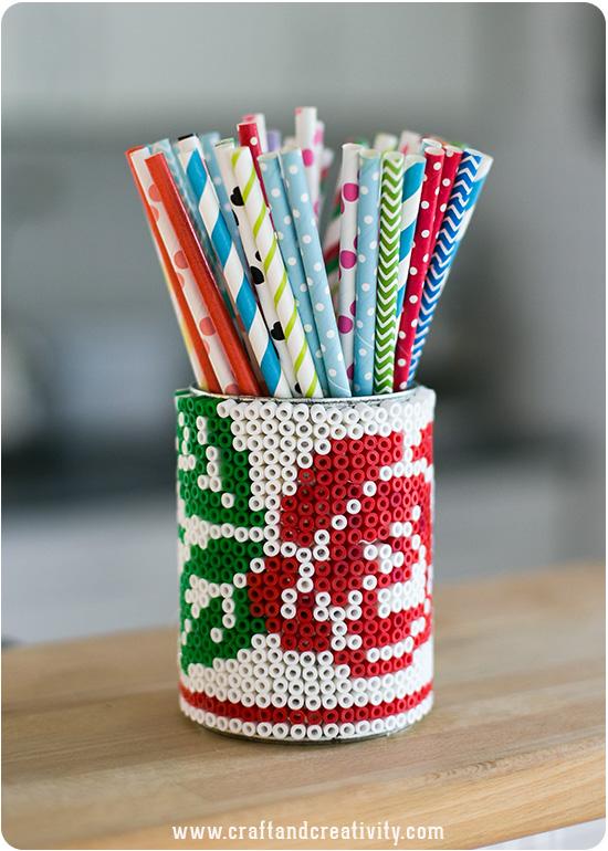 DIY beaded tin can (via craftandcreativity)