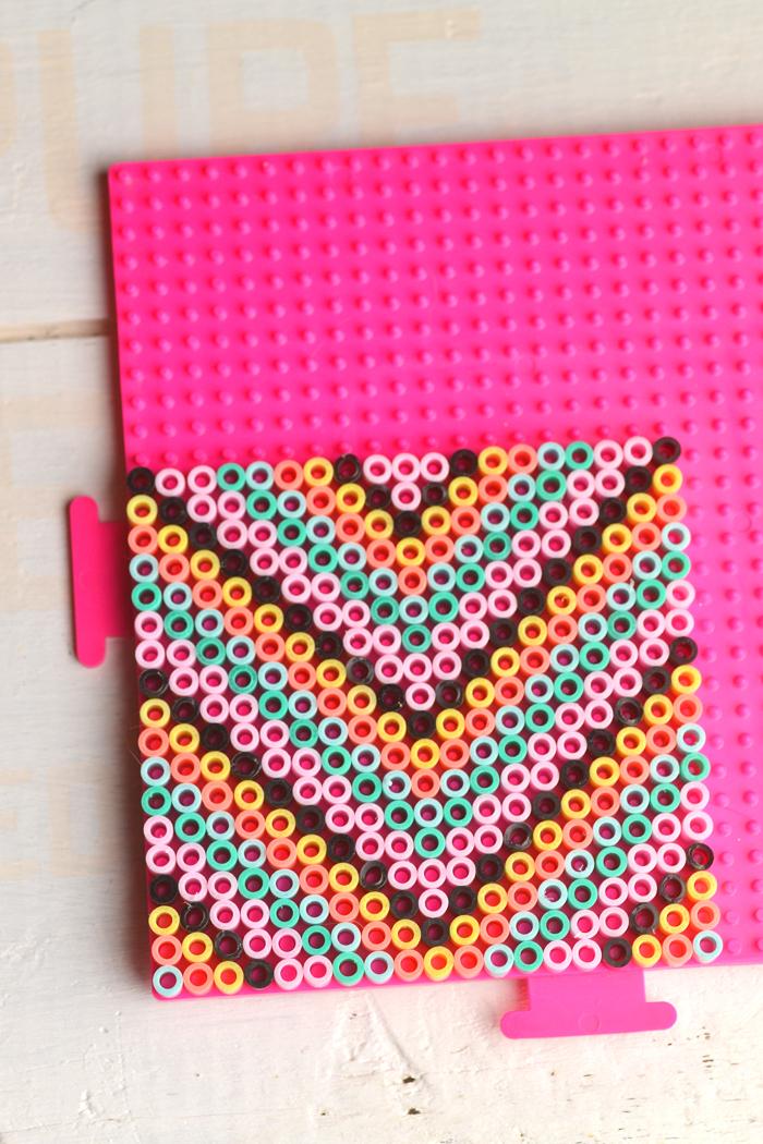DIY fused bead coasters (via intimateweddings)