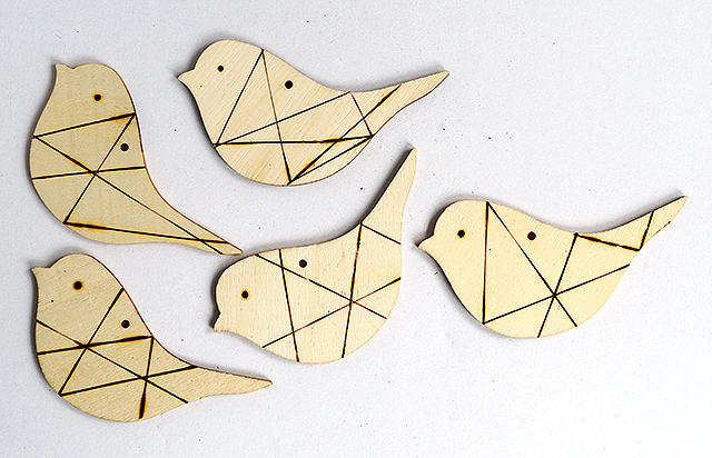 Colorful DIY Wooden Birds Mobile For Nurseries