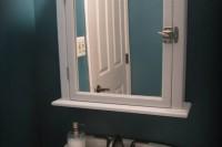 DIY medicine cabinet from a mirror