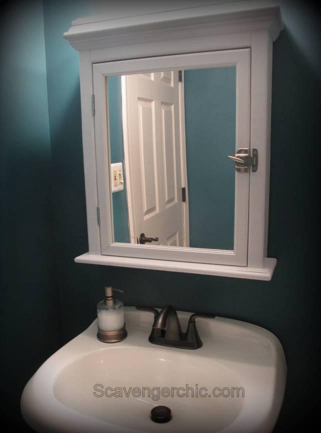 Diy Medicine Cabinet From A Mirror Via Scavengerchic