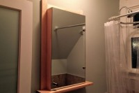 DIY mirrored medicine cabinet