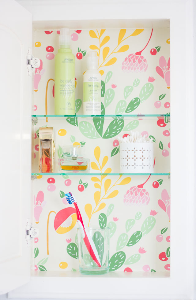 DIY colorful cabinet makeover