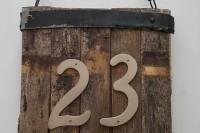 DIY rustic number sign