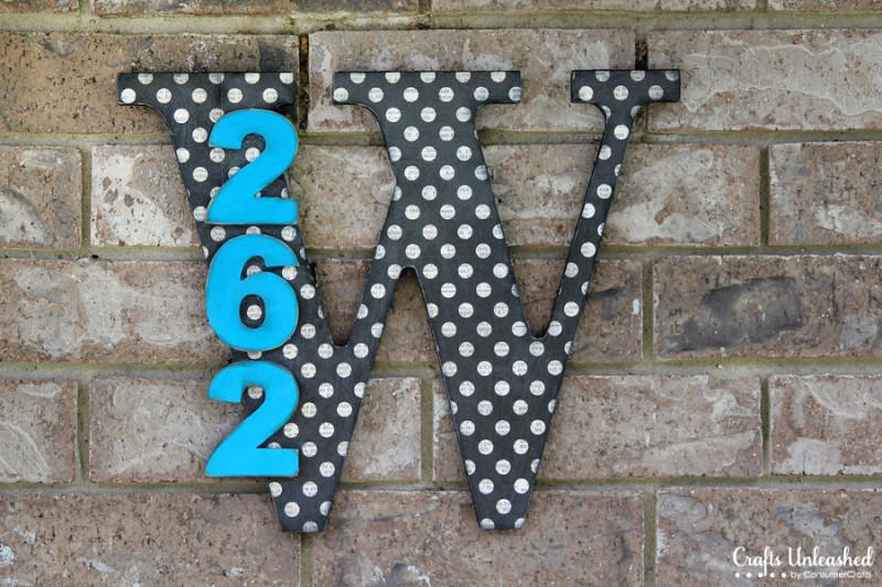 DIY monogram house numbers